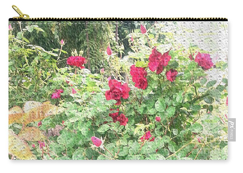 Roses Carry-all Pouch featuring the photograph Red Roses by Alys Caviness-Gober