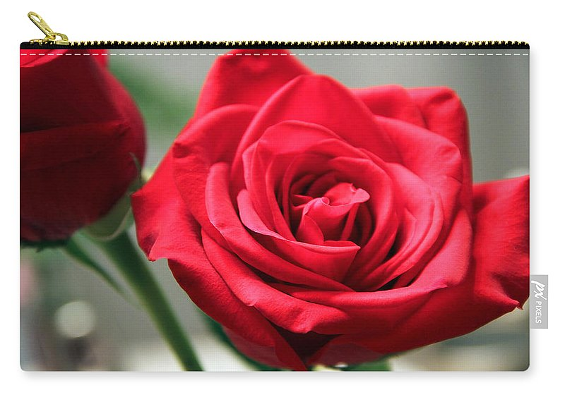 Roses Carry-all Pouch featuring the photograph Red Roses by Erin McCandless