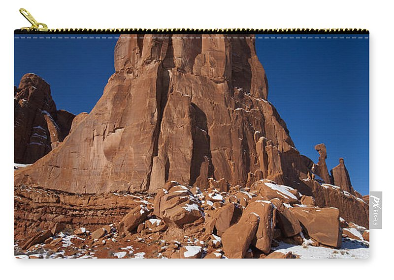 Arches Carry-all Pouch featuring the photograph Red Sandstone Arches National Park Utah by Jason O Watson