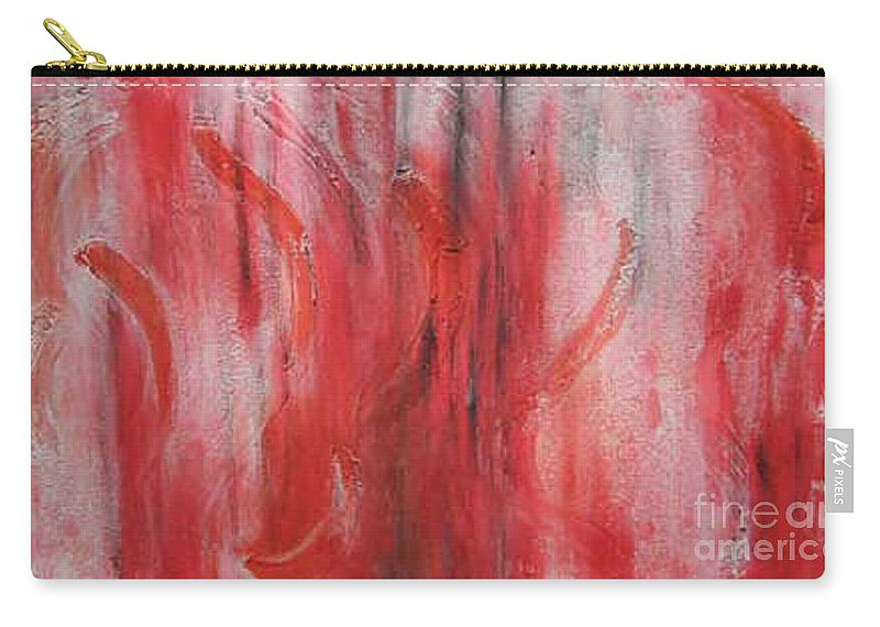 Abstract Carry-all Pouch featuring the painting Red Sea by Silvana Abel