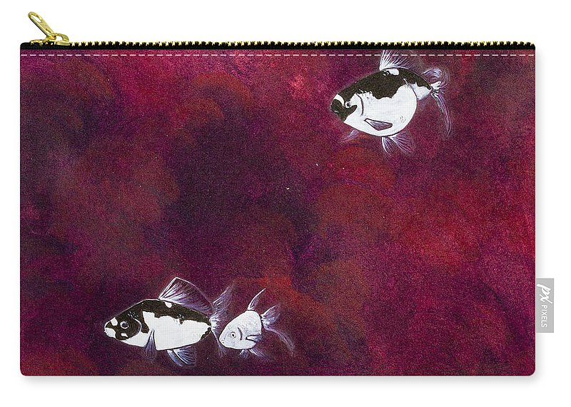 Carry-all Pouch featuring the painting Red Sea by Stefanie Forck