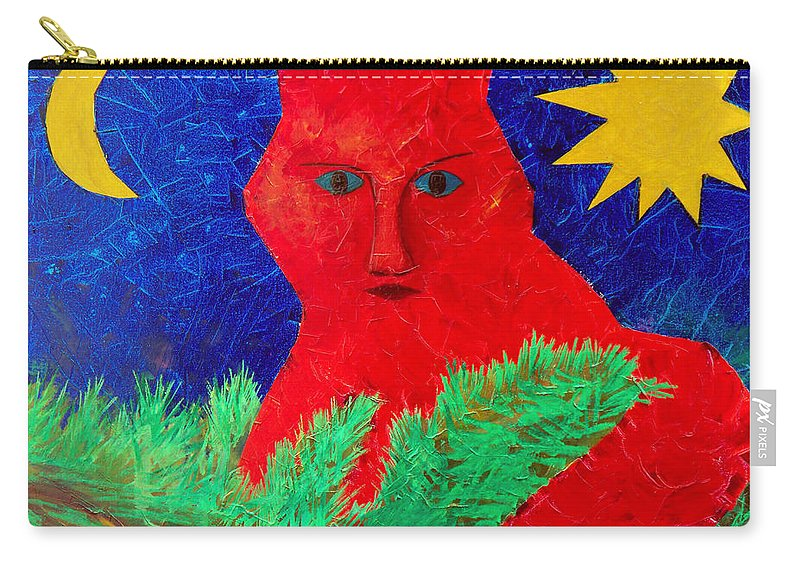 Fantasy Carry-all Pouch featuring the painting Red by Sergey Bezhinets