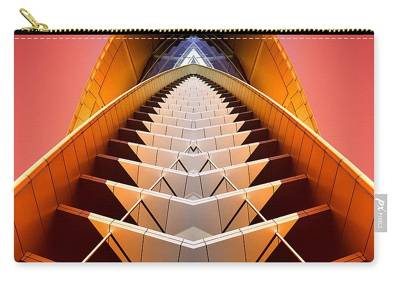 Abstract Carry-all Pouch featuring the photograph Red Shift by Wayne Sherriff