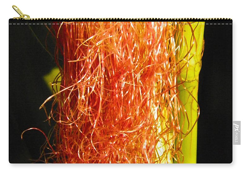 Corn Carry-all Pouch featuring the photograph Red Silk by Nick Kirby