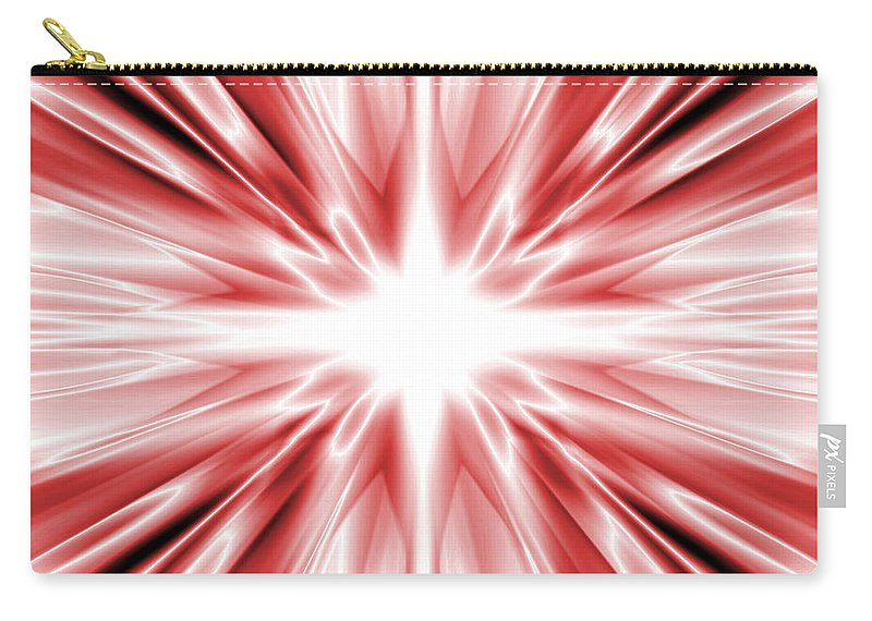 Background Carry-all Pouch featuring the digital art Red Silk Star by Steve Ball