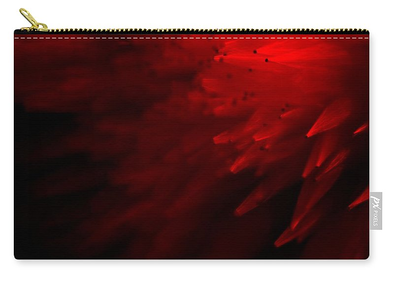 Abstract Carry-all Pouch featuring the photograph Red Skies by Dazzle Zazz