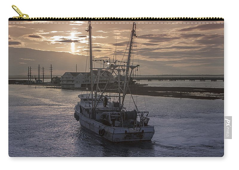 Fishing Boat Carry-all Pouch featuring the photograph Red Sky At Night by Photographic Arts And Design Studio