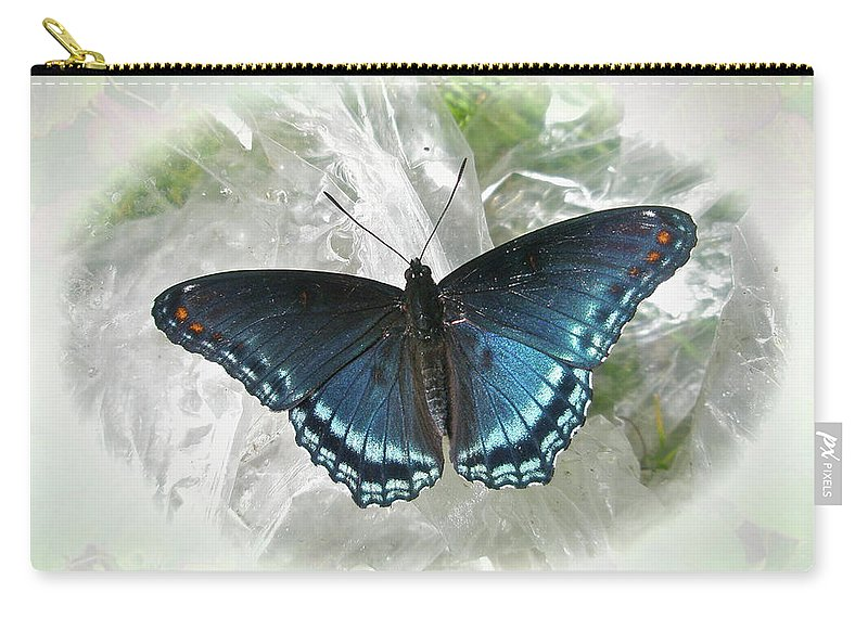 Butterfly Carry-all Pouch featuring the photograph Red-spotted Purple Butterfly - Limenitis Arthemis by Mother Nature