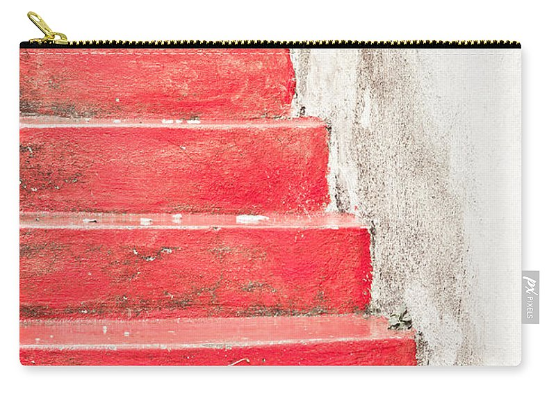 Abstract Carry-all Pouch featuring the photograph Red Stone Steps by Tom Gowanlock