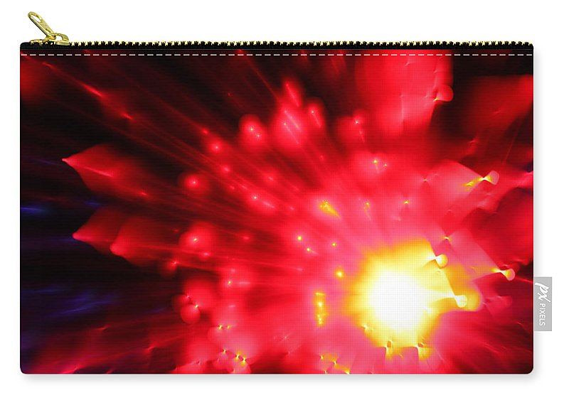 Abstract Carry-all Pouch featuring the photograph Red Sun by Dazzle Zazz