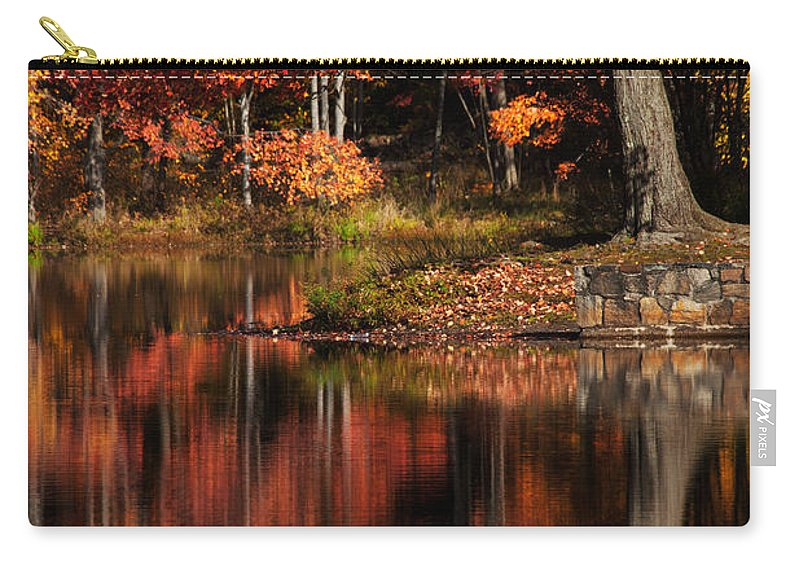 Red Tree Carry-all Pouch featuring the photograph Red Tree by Karol Livote