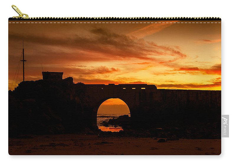 Red Twilight Carry-all Pouch featuring the photograph Red Twilight I by Marco Oliveira