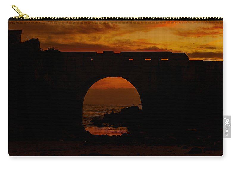 Red Twilight Carry-all Pouch featuring the photograph Red Twilight II by Marco Oliveira