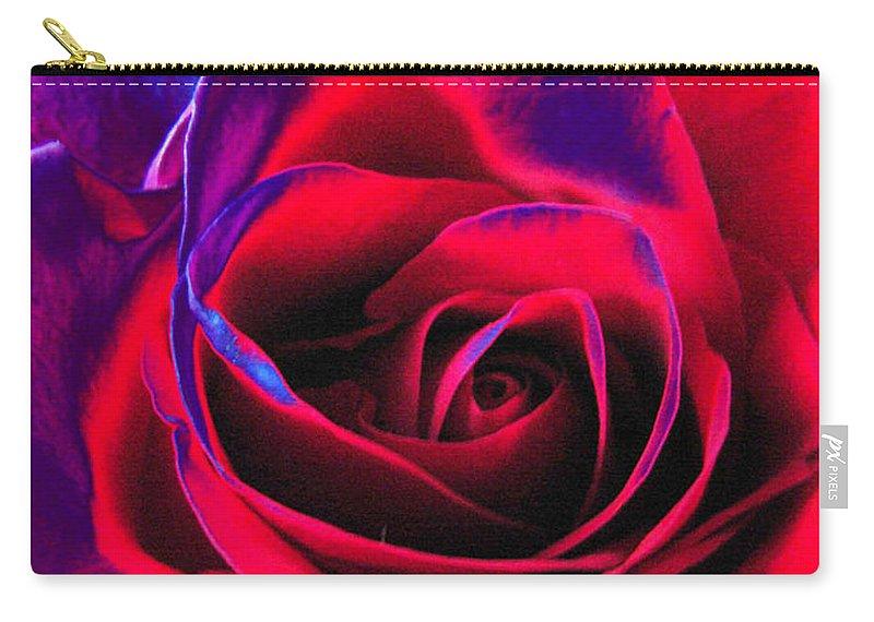 Velvet Carry-all Pouch featuring the digital art Red Velvet by Carol Lynch