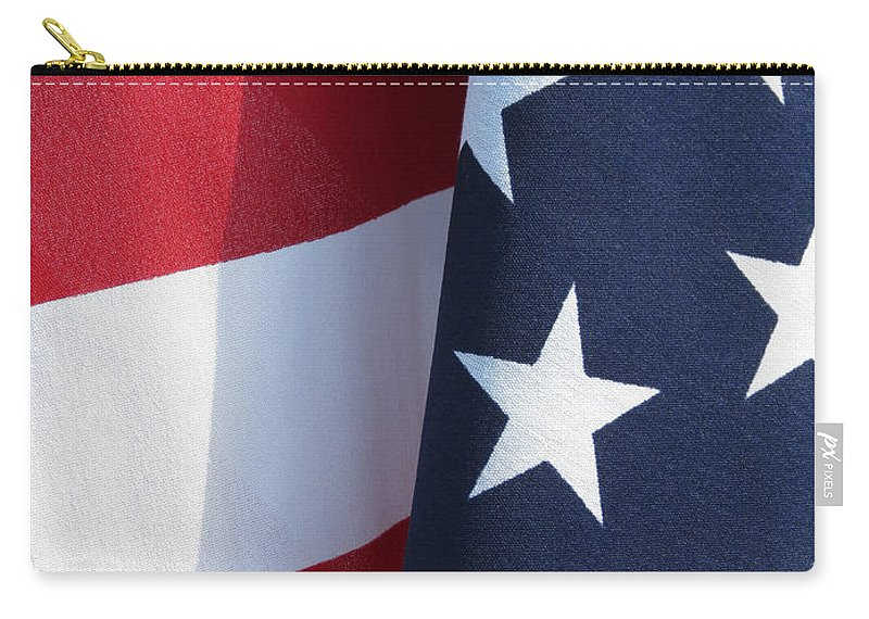 Tempe Town Lake Carry-all Pouch featuring the photograph Red White And Blue by Laurel Powell
