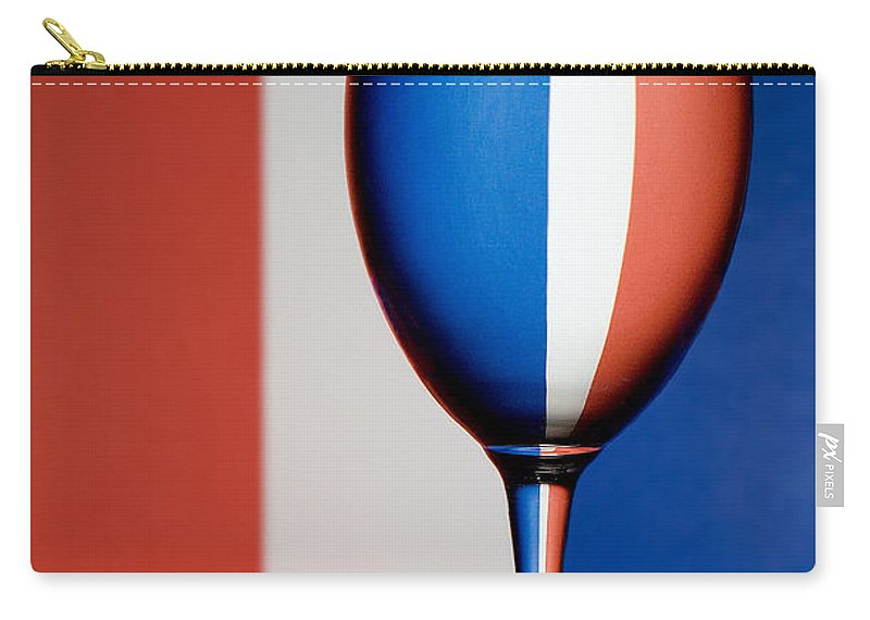Water Drops Carry-all Pouch featuring the photograph Red White And Blue by Susan Candelario