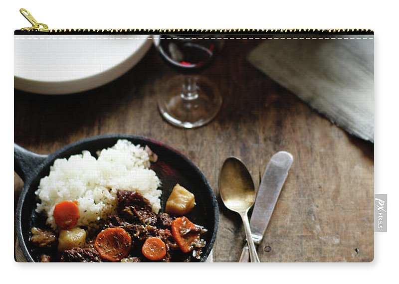 Spoon Carry-all Pouch featuring the photograph Red Wine Braised Beef by 200