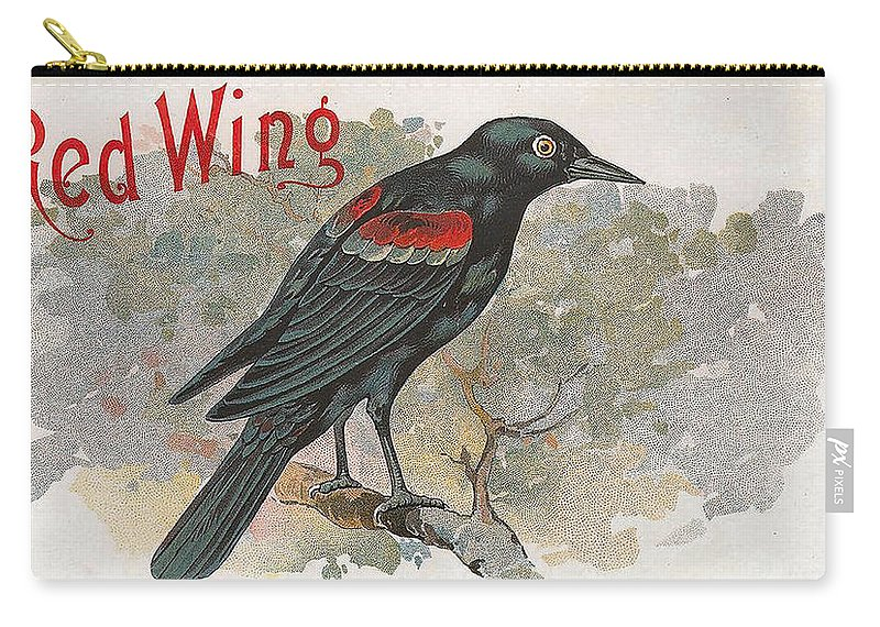Studio Artist Carry-all Pouch featuring the digital art Red Wing by Studio Artist