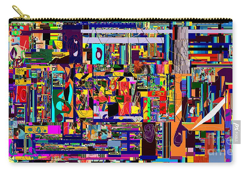 Carry-all Pouch featuring the digital art Redemption Prayer 12c by David Baruch Wolk