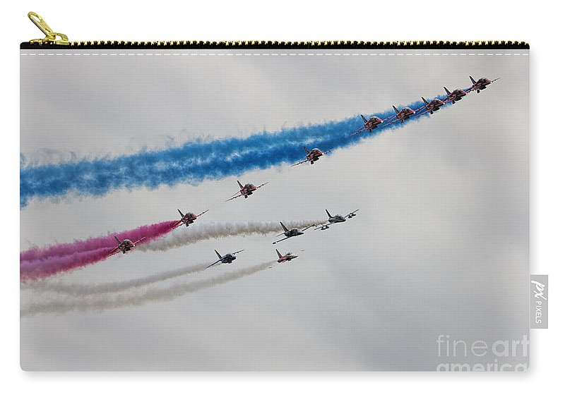 Red Arrows Carry-all Pouch featuring the photograph Reds Pit Day by J Biggadike