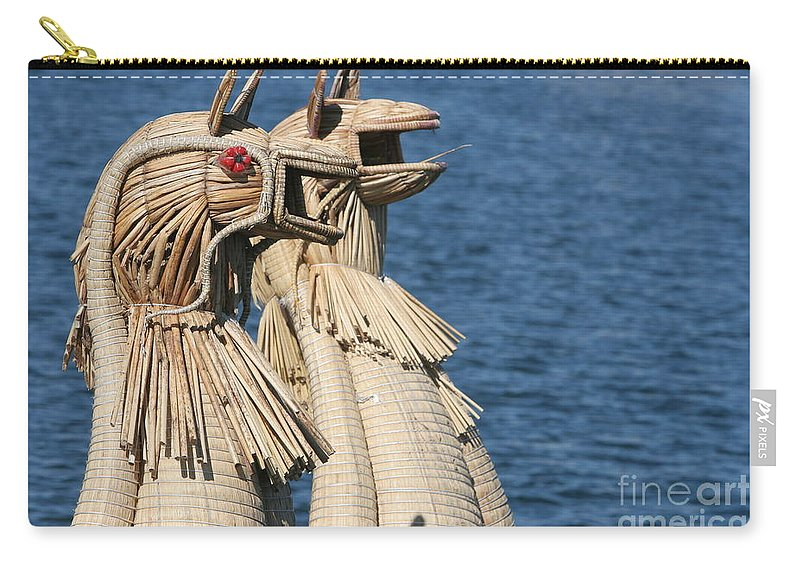 Travel Carry-all Pouch featuring the photograph Reed Boat Lake Titicaca by Jason O Watson