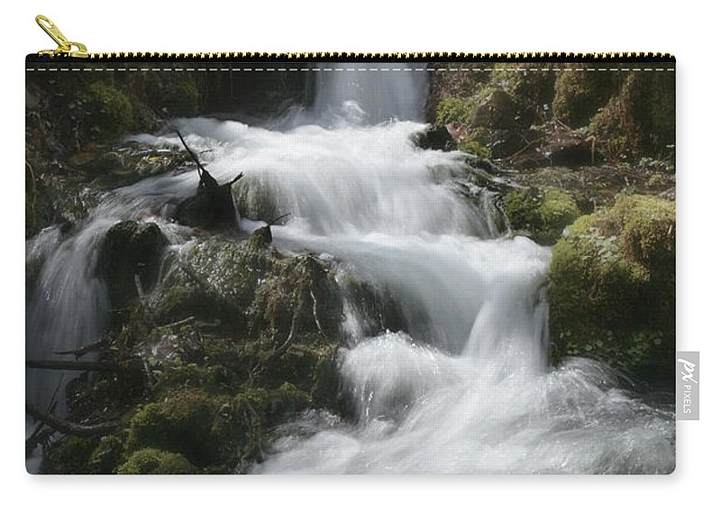 Waterfall Carry-all Pouch featuring the photograph Reeds Springs Falls by Garry McMichael