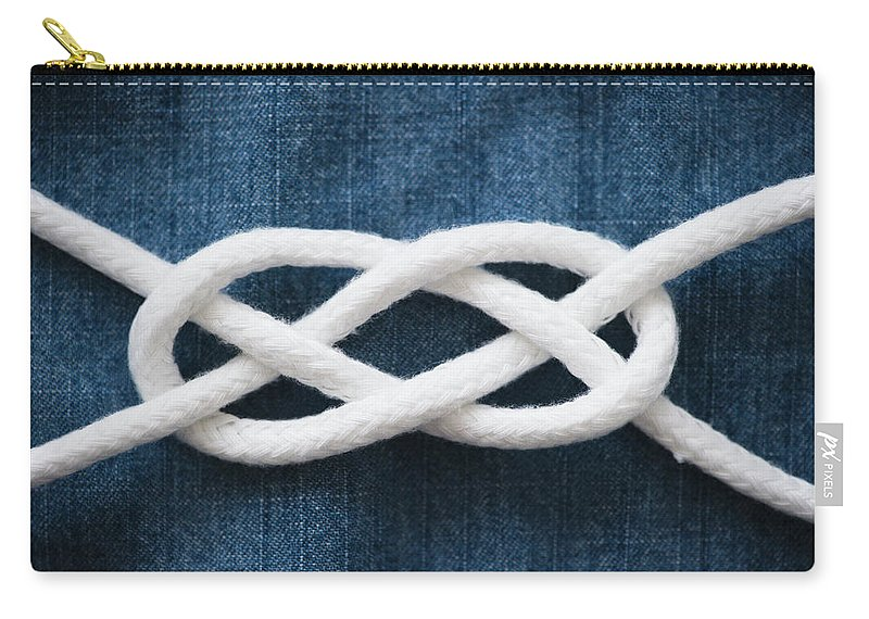 Security Carry-all Pouch featuring the photograph Reef Knot by Jamie Grill