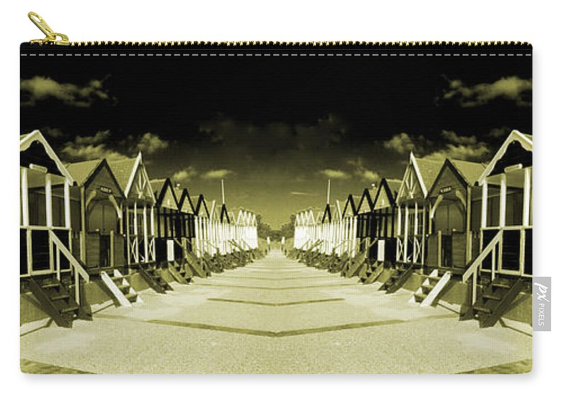 Southwold Carry-all Pouch featuring the photograph Reflected Yellow Huts by Rob Hawkins
