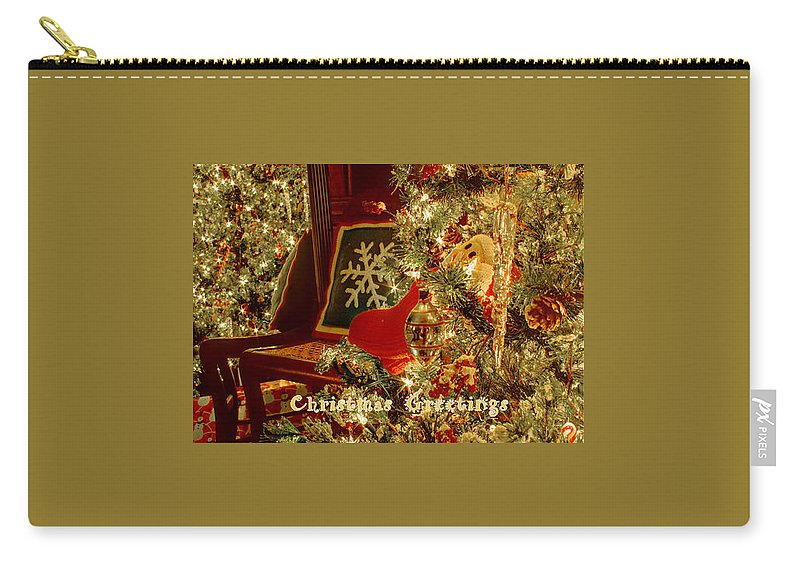 Christmas Carry-all Pouch featuring the photograph Reflecting Christmas 2013 by Deb Buchanan