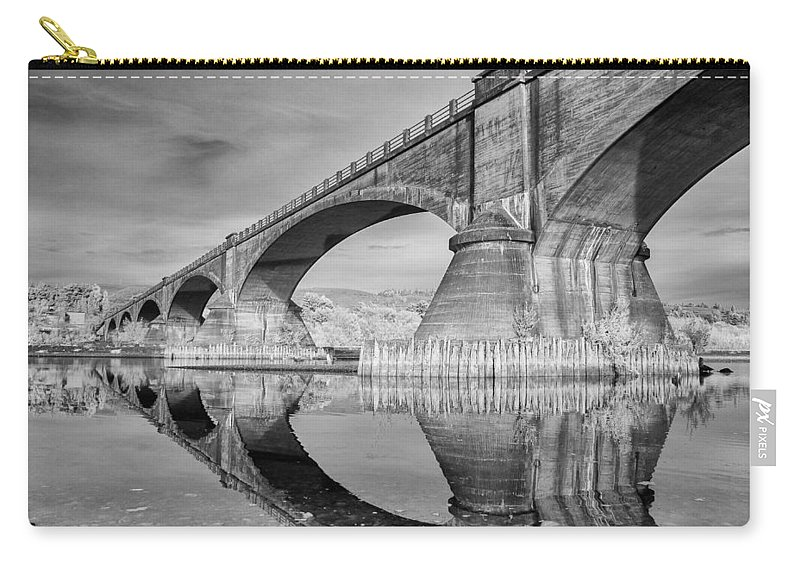 Infrared Carry-all Pouch featuring the photograph Reflecting Fernbridge by Greg Nyquist
