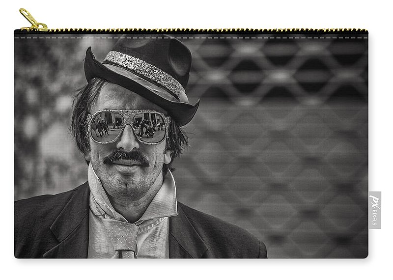 Silverefexpro Carry-all Pouch featuring the photograph Reflecting Glasses by Roberto Pagani