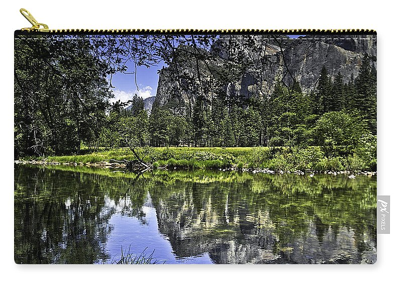 Usa Carry-all Pouch featuring the photograph Reflecting On Yosemite by LeeAnn McLaneGoetz McLaneGoetzStudioLLCcom