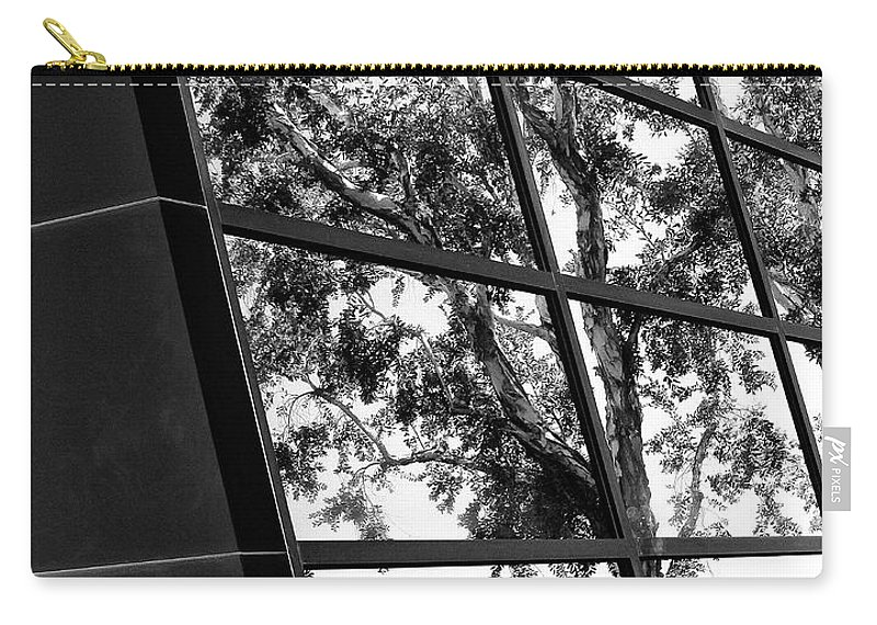 Modern Architecture Carry-all Pouch featuring the photograph Mirror Image Palm Springs by William Dey