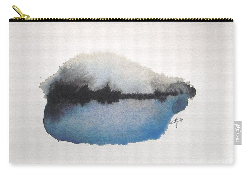 Abstract Carry-all Pouch featuring the painting Reflection in the lake by Vesna Antic