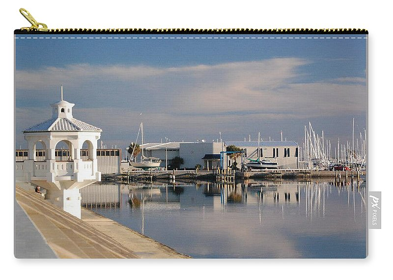 Cloud Carry-all Pouch featuring the photograph Reflection by Leticia Latocki