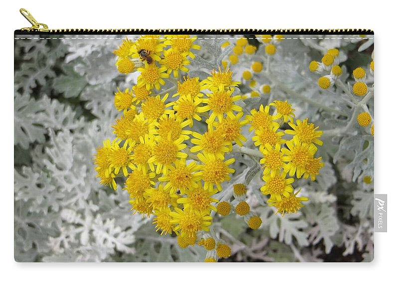 Tiny Yellow Dots Carry-all Pouch featuring the photograph Reflection Of Sun by Sonali Gangane
