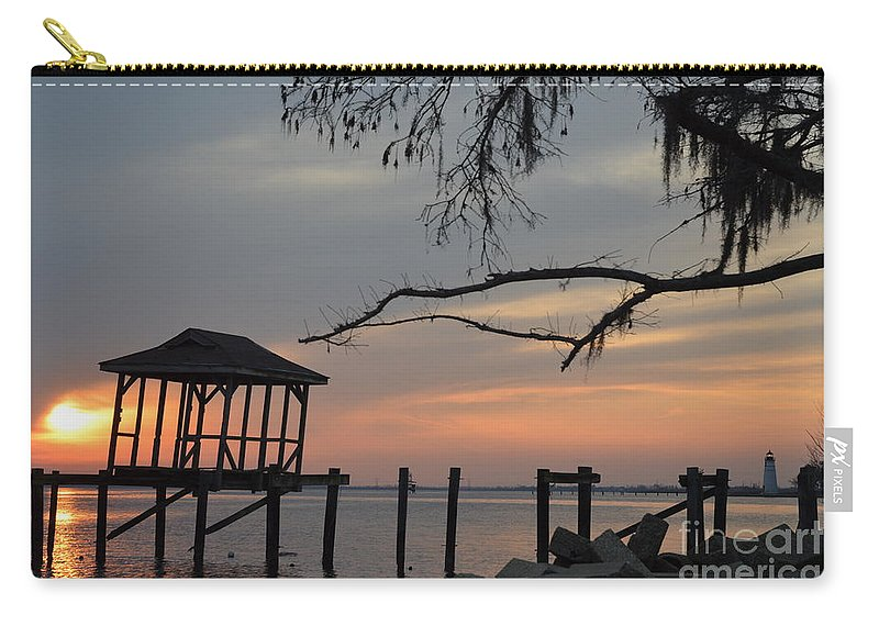 Sunset Carry-all Pouch featuring the photograph Reflection On Lake by Xyldia Grace