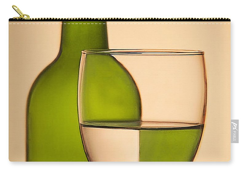 Bottle Carry-all Pouch featuring the photograph Reflections And Refractions by Susan Candelario