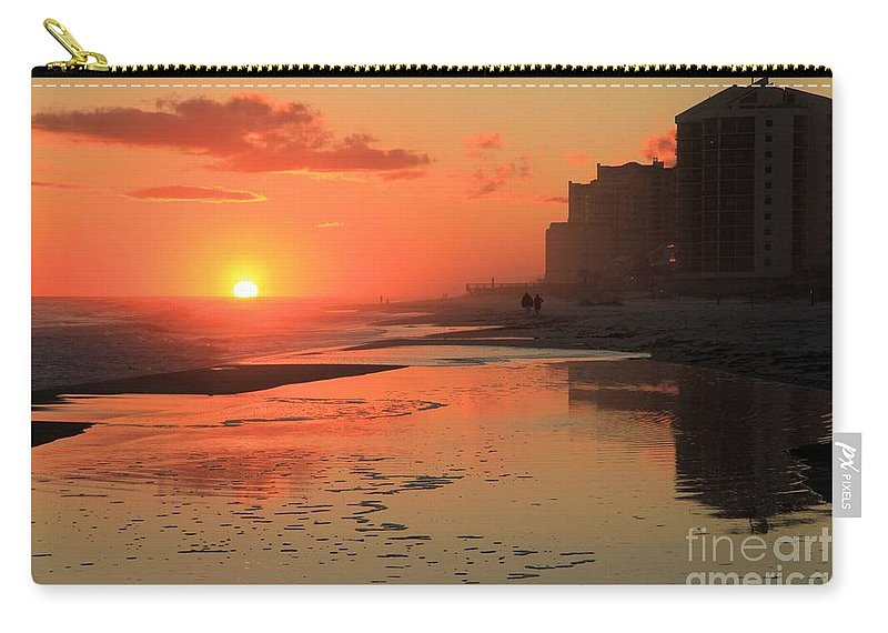 Gulf Islands National Seashore Carry-all Pouch featuring the photograph Reflections At Perdido Key by Adam Jewell