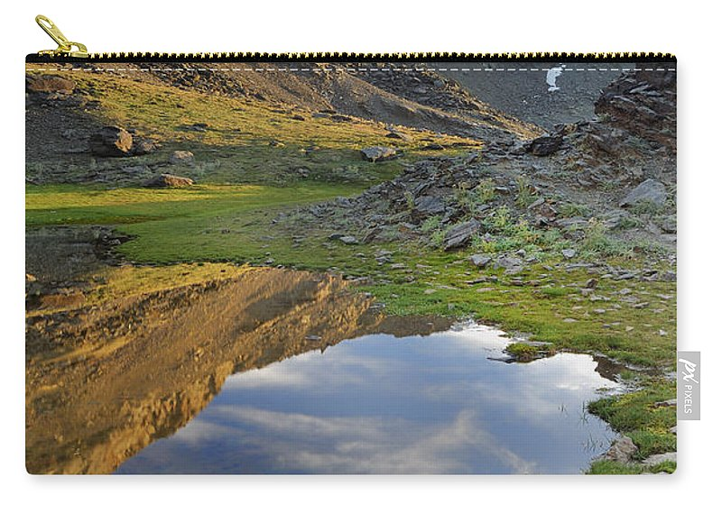 Lake Carry-all Pouch featuring the photograph Reflections At The Mountain Lake by Guido Montanes Castillo