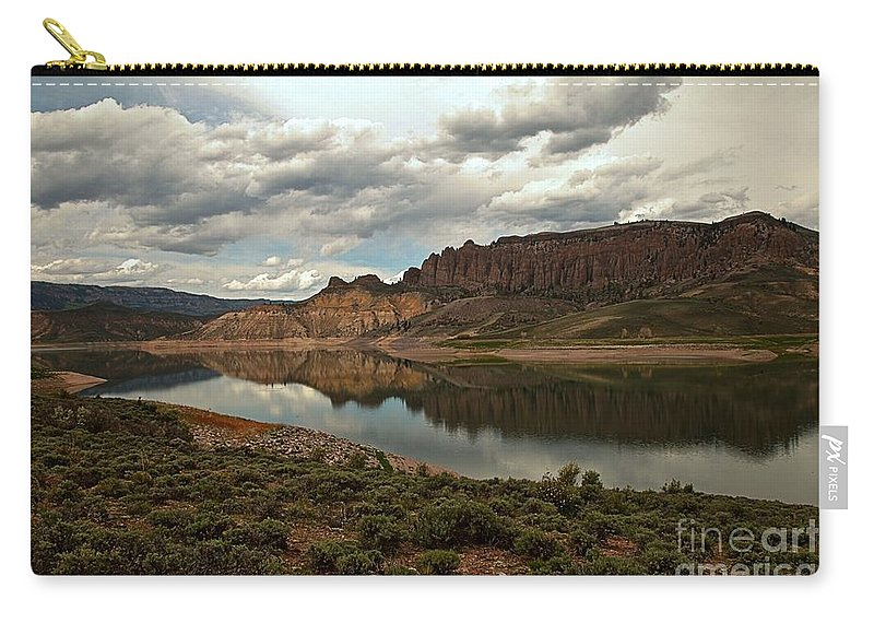 Curecanti Carry-all Pouch featuring the photograph Reflections In Blue Mesa by Adam Jewell
