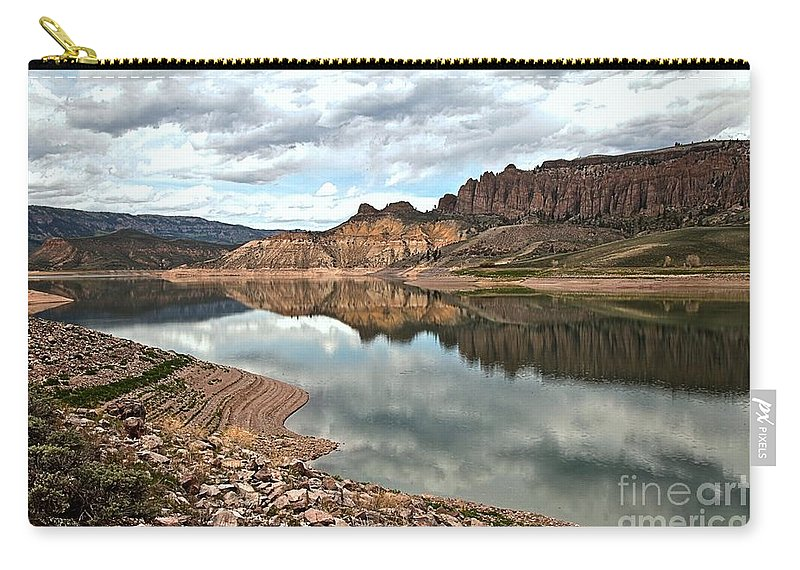 Curecanti Carry-all Pouch featuring the photograph Reflections In The Blue Mesa by Adam Jewell