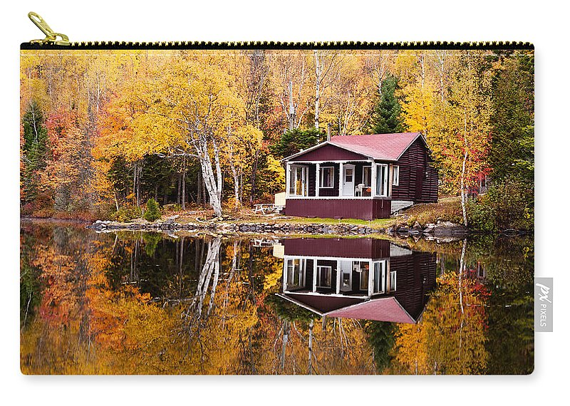 Autumn Carry-all Pouch featuring the photograph Reflections Of Autumn by U Schade