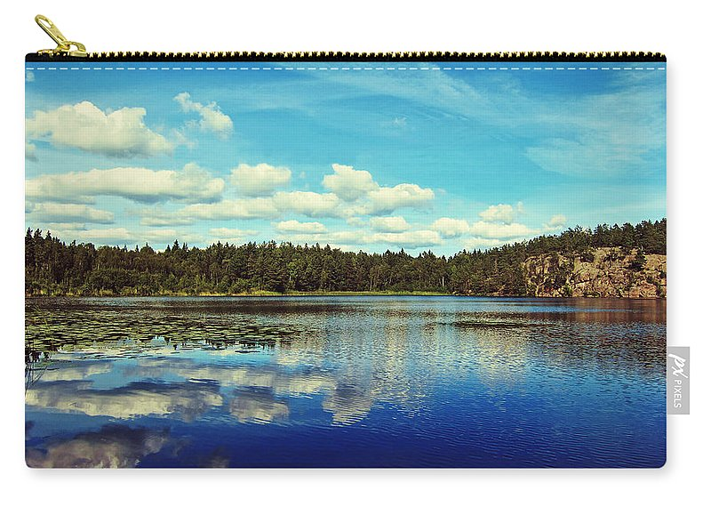 Lake Carry-all Pouch featuring the photograph Reflections Of Nature by Nicklas Gustafsson