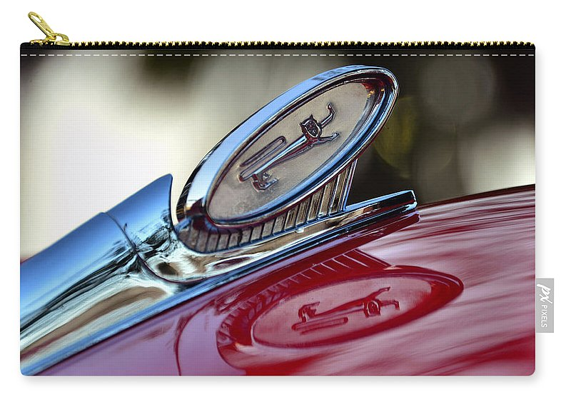 1960 Ford Galaxy Starliner Hood Ornament Carry-all Pouch featuring the photograph Reflections Of Pride by David Lee Thompson