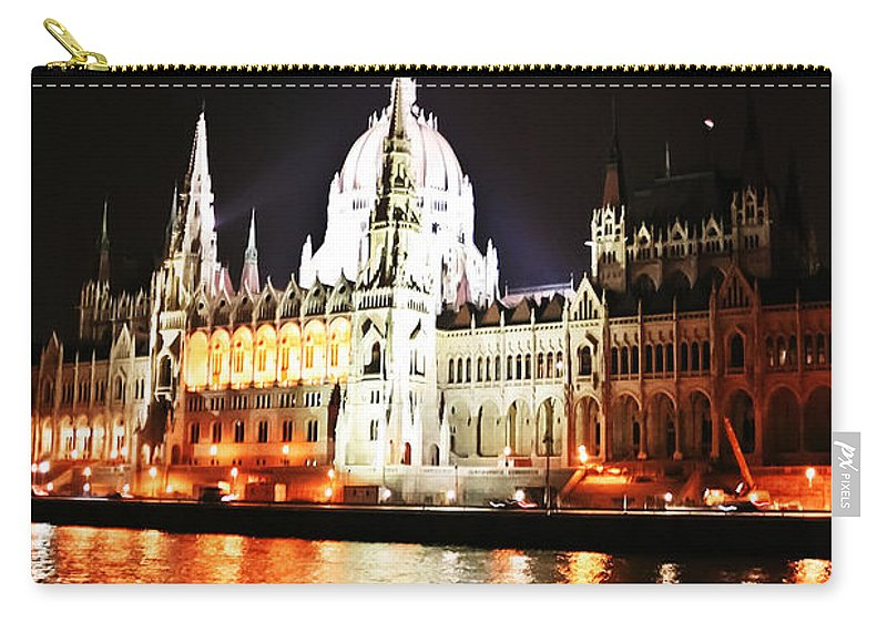 Travel Carry-all Pouch featuring the photograph Reflections Of The Danube by Elvis Vaughn