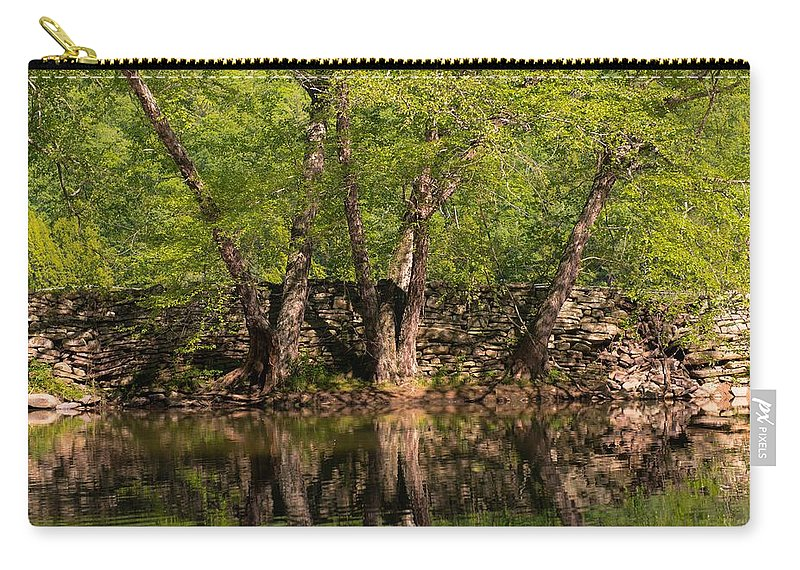Creek Carry-all Pouch featuring the photograph Reflections Of The Past by Scott Hafer