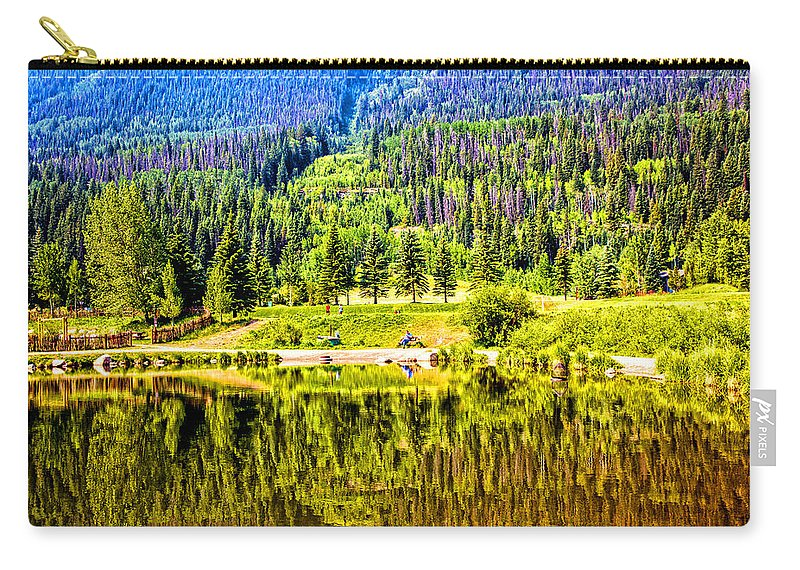Vail Carry-all Pouch featuring the photograph Reflections On A Summer Day - Vail - Colorado by Madeline Ellis