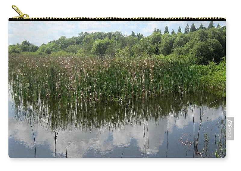 Lake Carry-all Pouch featuring the photograph Reflections On The Lake by Jo Jurkiewicz