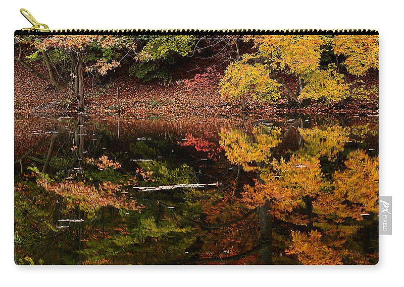 Rhode Island Carry-all Pouch featuring the photograph Reflective Colors by Lourry Legarde